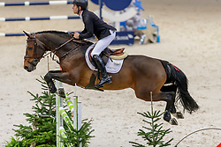 BRASH Scott (GBR), Hello Vincent<br /> Genf - CHI Geneve Rolex Grand Slam 2019<br /> Prix des Communes Genevoises<br /> 2-Phasen-Springen<br /> International Jumping Competition 1m50<br /> Two Phases: A + A, Both Phases Against the Clock<br /> 13. Dezember 2019<br /> © www.sportfotos-lafrentz.de/Stefan Lafrentz