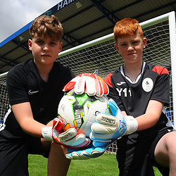 TELFORD COPYRIGHT MIKE SHERIDAN James Montgomery Monte GK product/promotional shoot at the New Bucks Head Stadium, Telford, on Friday, July 17, 2020<br /> <br /> NOT FOR EDITORIAL RE-USE<br /> <br /> MS202021-016
