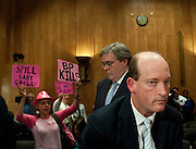 May 17,2010 - Washington, District of Columbia USA - Lamar McKay, Chairman and President of BP America Inc.,  testifies before the Senate Committee on Homeland Security and Government Affairs about the response to the Deepwater Horizon Oil spill.(Credit Image: © Pete Marovich/ZUMA Press)