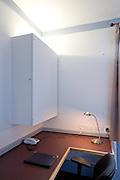 Above desk cupboard/notice board, closed