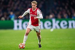 10-04-2019 NED: Champions League AFC Ajax - Juventus,  Amsterdam<br /> Round of 8, 1st leg / Ajax plays the first match 1-1 against Juventus during the UEFA Champions League first leg quarter-final football match / Frenkie de Jong #21 of Ajax
