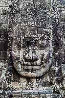 giant face prasat bayon temple Angkor Thom Cambodia
