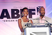 Miami Beach, Florida, NY-June 23: (L-R) Nicole Friday and Jeff Friday, Founder & CEO, FilmLife attends the 2012 American Black Film Festival Winners Circle Awards Presentation held at the Ritz Carlton Hotel on June 23, 2012 in Miami Beach, Florida (Photo by Terrence Jennings)