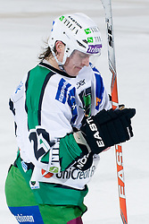 Tomi Mustonen (HDD Tilia Olimpija, #21) during ice-hockey match between HDD Tilia Olimpija and EHC Liwest Black Wings Linz in 18th Round of EBEL league, on November 5, 2010 at Hala Tivoli, Ljubljana, Slovenia. (Photo By Matic Klansek Velej / Sportida.com)