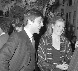 The 6TH DUKE OF WESTMINSTER & the DUCHESS OF WESTMINSTER at a party in London on 24th November 1982.