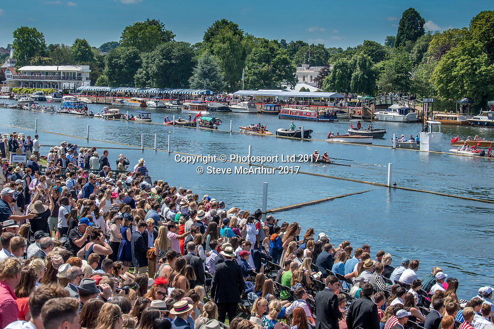 Womens Double Sculls champions at the 2017 HRR 2017 Olivia Loe (Avon RC) and Brooke Donoghue (Waikato RC), Henley on Thames, United Kingdom. Sunday 2nd July 2017. © Copyright Steve McArthur / www.photosport.nz
