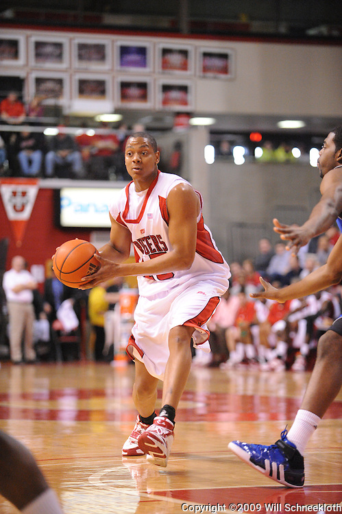 Feb 8, 2009; Piscataway, NJ, USA; Rutgers forward J.R. Inman (15) looks for an open pass during the first half of Seton Hall's 65-60 victory at the Louis Brown Athletic Center.