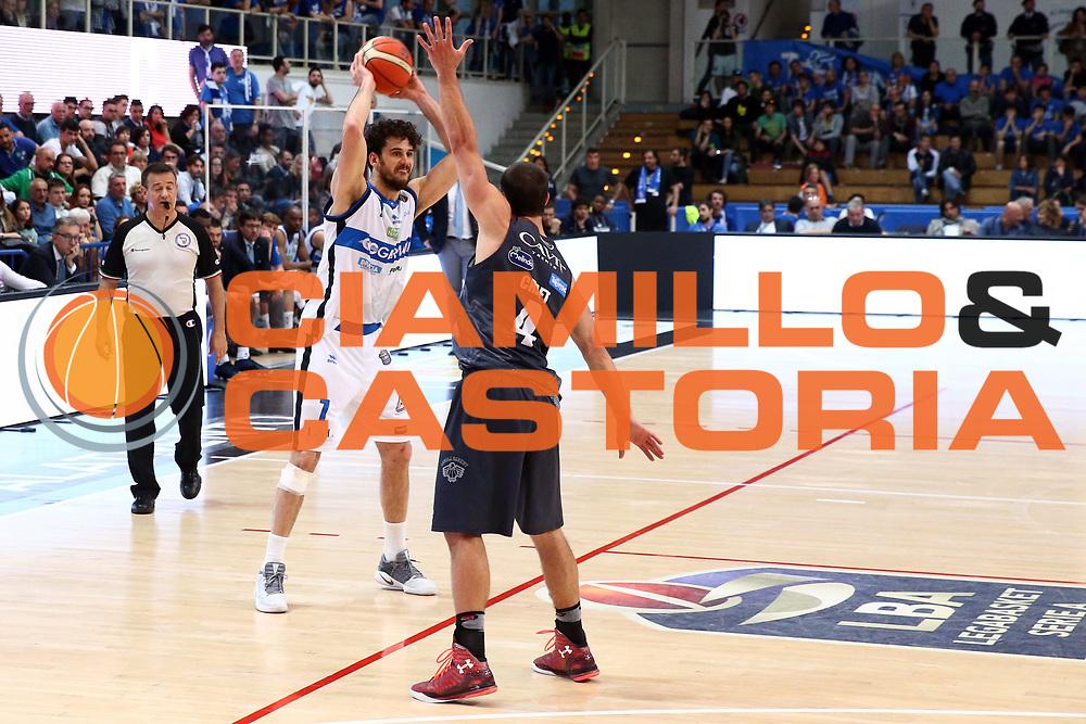 Vitali Luca<br /> Dolomiti Energia Trentino vs Germani Basket Brescia<br /> Lega Basket Serie A 2016/2017<br /> Trento, 23/04/2017<br /> Foto Ciamillo-Castoria/A. Gilardi