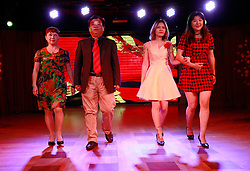 Parents of Chinese LGBTs (lesbian, gay, bisexual and transgender) and volunteers of the Parents and Friends of Lesbians and Gays (PFLAG) China organisation perform a fashion show during a closing ceremony for the 10th National PFLAG conference held on a cruise in open seas on route back to Shanghai China, 17 June 2017. About 800 members of the Chinese LGBT (lesbian, gay, bisexual and transgender) community and their parents spent four days on a cruise trip organised by Parents and Friends of Lesbians and Gays (PFLAG) China, a grassroots non-government organisation, celebrating the 10th anniversary of the organisation. It aims to promote coexistence among homosexuals and their families.