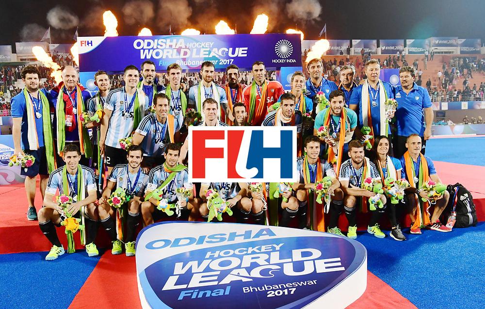 Odisha Men's Hockey World League Final Bhubaneswar 2017<br /> Match id:<br /> Ceremony<br /> Foto: Argentina<br /> COPYRIGHT WORLDSPORTPICS FRANK UIJLENBROEK