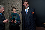 JACKIE WALKER; ROBERT WALKER; FELIX RIGG, LA Philharmonic reception, Fountain room, Barbican. 27 January 2011 -DO NOT ARCHIVE-© Copyright Photograph by Dafydd Jones. 248 Clapham Rd. London SW9 0PZ. Tel 0207 820 0771. www.dafjones.com.