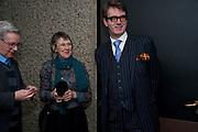 JACKIE WALKER; ROBERT WALKER; FELIX RIGG, LA Philharmonic reception, Fountain room, Barbican. 27 January 2011 -DO NOT ARCHIVE-© Copyright Photograph by Dafydd Jones. 248 Clapham Rd. London SW9 0PZ. Tel 0207 820 0771. www.dafjones.com.