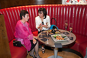 HIROKO HAYASHI; SUSAN GOODE, The Tomodachi ( Friends) Charity Dinner hosted by Chef Nobu Matsuhisa in aid of the Japanese Tsunami Appeal. Nobu Park Lane. London. 4 May 2011. <br /> <br />  , -DO NOT ARCHIVE-© Copyright Photograph by Dafydd Jones. 248 Clapham Rd. London SW9 0PZ. Tel 0207 820 0771. www.dafjones.com.