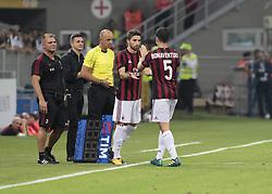 August 3, 2017 - Milan, Italy - Giacomo Bonaventura during the preliminaries of Europa League 2017/2018 match between Milan v Craiova, in Milan, on august 3, 2017  (Credit Image: © Loris Roselli/NurPhoto via ZUMA Press)