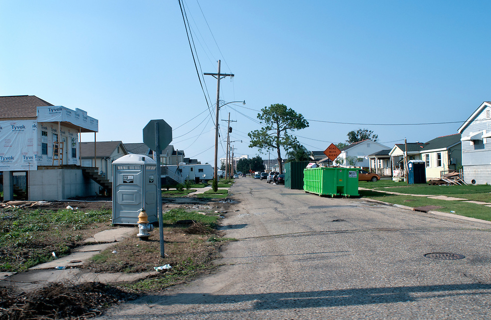 Residents rebuild, demolish homes and sell their land, or refuse to return to the 9th Ward after Hurricane Katrina in New Orleans, LA. The local government has stepped in and offered monetary incentives if residents return to the area.