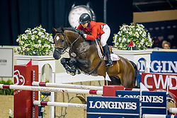 Coe Kirsten, (USA), Czardas<br /> Longines FEI World Cup™ Jumping Final I<br /> Las Vegas 2015<br />  © Hippo Foto - Dirk Caremans<br /> 17/04/15