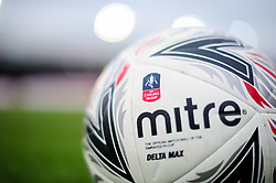 A general view of a FA Cup ball at Rodney Parade prior to kick off - Mandatory by-line: Ryan Hiscott/JMP - 16/02/2019 - FOOTBALL - Rodney Parade - Newport, Wales - Newport County v Manchester City - Emirates FA Cup fifth round proper