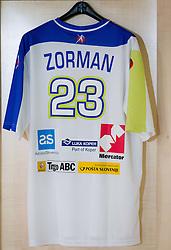 New jersey at press conference of Slovenian Handball Men National Team, on January 13, 2011, in Zrece, Slovenia. (Photo by Vid Ponikvar / Sportida)