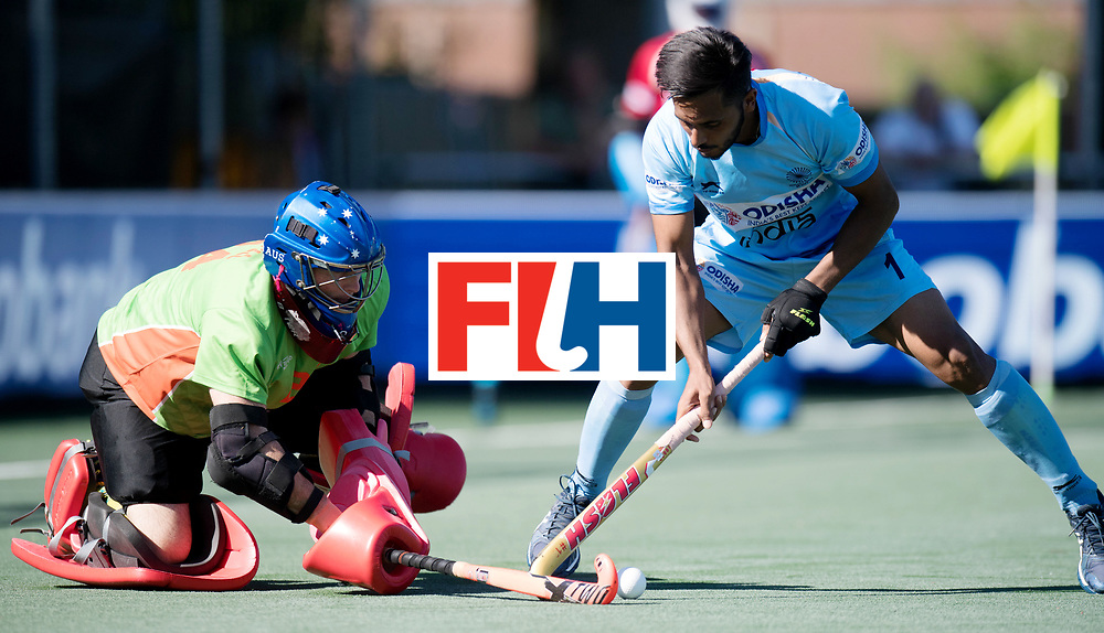BREDA - Rabobank Hockey Champions Trophy<br /> Final Australia - India<br /> Photo: Harmanpreet Singh vs Tyler Lovell.<br /> COPYRIGHT WORLDSPORTPICS FRANK UIJLENBROEK