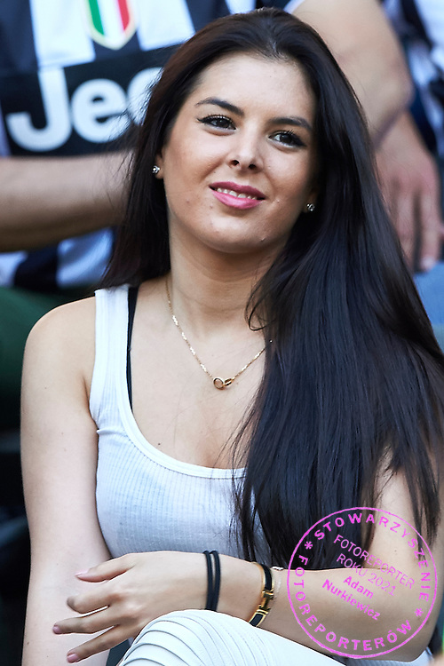 Paul Pogba's girlfriend looks on during the 2014/15 UEFA Champions League Final between Juventus and FC Barcelona at Olympiastadion on June 6, 2015 in Berlin, Germany.<br /> Germany, Berlin, June 6, 2015<br /> <br /> Picture also available in RAW (NEF) or TIFF format on special request.<br /> <br /> For editorial use only. Any commercial or promotional use requires permission.<br /> <br /> Adam Nurkiewicz declares that he has no rights to the image of people at the photographs of his authorship.<br /> <br /> Mandatory credit:<br /> Photo by &copy; Adam Nurkiewicz / Mediasport