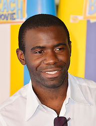 Teen Beach Movie Screening.<br /> Fabrice Muamba during screening of musical adventure where surfer teens mysteriously wind up in a classic beach party movie called Wet Side Story.  The Riverfront Cafe Bar, BFI, Belvedere Road, London, United Kingdom<br /> Sunday, 7th July 2013<br /> Picture by Nils Jorgensen / i-Images