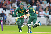 Brendan Taylor and Riki Wessels during the Natwest T20 Blast North Group match between Nottinghamshire County Cricket Club and Worcestershire County Cricket Club at Trent Bridge, West Bridgford, United Kingdom on 26 July 2017. Photo by Simon Trafford.