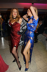 JERRY HALL and her wax work at Andy & Patti Wong's annual Chinese New year Party, this year to celebrate the Year of The Pig, held at Madame Tussauds, Marylebone Road, London on 27th January 2007.<br />