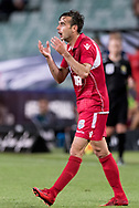 SYDNEY, NSW- NOVEMBER 21: Adelaide United forward Nikola Mileusnic (17) unhappy with the decision at the FFA Cup Final Soccer between Sydney FC and Adelaide United on November 21, 2017 at Allianz Stadium, Sydney. (Photo by Steven Markham/Icon Sportswire)
