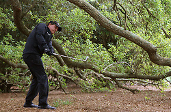 April 7, 2018 - Augusta, GA, USA - Phil Mickelson hits out of the woods on the 1st hole during the third round of the Masters Tournament on Saturday, April 7, 2018, at Augusta National Golf Club in Augusta, Ga. (Credit Image: © Curtis Compton/TNS via ZUMA Wire)