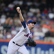 Pitcher Matt Harvey, New York Mets, in action during the New York Mets Vs Los Angeles Dodgers MLB regular season baseball game at Citi Field, Queens, New York. USA. 25th July 2015. Photo Tim Clayton