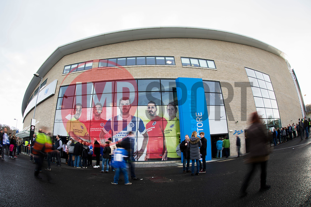 Fans behind to arrive for today match up - Mandatory byline: Jason Brown/JMP - 07966 386802 - 19/12/2015 - FOOTBALL - American Express Community Stadium - Brighton,  England - Brighton & Hove Albion v Middlesbrough - Championship