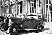 army officer posing in a car 1930s France