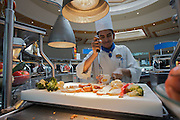 Aboard the Rhapsody of the Seas, on a cruise from Vancouver to Hawaii. Buffet lunch at Windjammer Cafe.