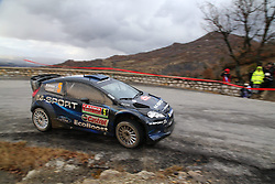 17.01.2014, Stage 10, Sisteron, FRA, FIA, WRC, Rallye Monte Carlo, 2. Tag, im Bild HIRVONEN Mikko / LEHTINEN Jarmo ( M Sport Ltd (GBR) / Ford Fiesta RS ), Aktion / Action<br /> <br /> <br /> Rallye Monte Carlo, 2 Tag, Motorsport, FIA World Rally Championship, 17 01 2014--- Foto: Eibner  // during Stage 10 on day two of FIA Rallye Monte Carlo held near Monte Carlo, France on 2014/01/17. EXPA Pictures © 2014, PhotoCredit: EXPA/ Eibner-Pressefoto/ Neis<br /> <br /> *****ATTENTION - OUT of GER*****