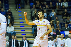 06.01.2016, Max Schmeling Halle, Berlin, GER, CEV Olympia Qualifikation, Frankreich vs Russland, im Bild Antonin Rouzier (#4, Frankreich) // 2016 CEV Volleyball European Olympic Qualification Match between France and Russia at the Max Schmeling Halle in Berlin, Germany on 2016/01/06. EXPA Pictures © 2016, PhotoCredit: EXPA/ Eibner-Pressefoto/ Wuechner<br /> <br /> *****ATTENTION - OUT of GER*****