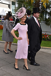 Emilia Fox at The Investec Derby, Epsom, Surrey England. 3 June 2017.<br /> Photo by Dominic O'Neill/SilverHub 0203 174 1069 sales@silverhubmedia.com