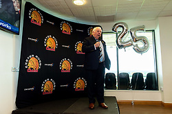 SW Comms CEO Tony Rowe OBE talks in the Chiefs Suite prior to kick off - Mandatory by-line: Ryan Hiscott/JMP - 19/10/2019 - RUGBY - Sandy Park - Exeter, England - Exeter Chiefs v Harlequins - Gallagher Premiership Rugby