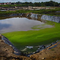 Chromium from unregulated dump sites in Kanpur, India leak into the river, subsoil, and groundwater - the primary source of drinking water for the surrounding community.