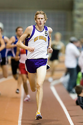 Matt Dennish (East Carolina) in the men's 1000m run.  Day 2 of the Virginia Tech Invitational Track and Field meet was held at the Rector Field House on the campus of Virginia Tech in Blacksburg, VA on January 12, 2008.