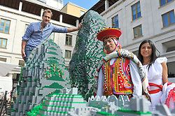 The World Famous Machu Picchu site was brought to life today in colourful lego bricks as the Peruvian tourist board came to Covent Garden joined by TV Presenter and Adventurer Ben Fogle, Tuesday June 26, 2012. Photo By Chris Joseph/i-Images