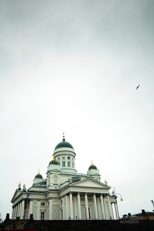 Helsinki Cathedral on a winter day