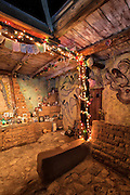 Interior detail of the DeGrazia Chapel in the Sun, Tucson, AZ.