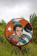 Revolutionary sign in Mayari, Holguin, Cuba.