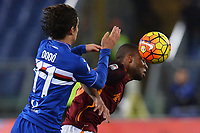 Dodo' Sampdoria, Seydou Keita Roma <br /> Roma 07-02-2016 Stadio Olimpico, Football Calcio 2015/2016 Serie A. AS Roma - Sampdoria . Foto Andrea Staccioli / Insidefoto
