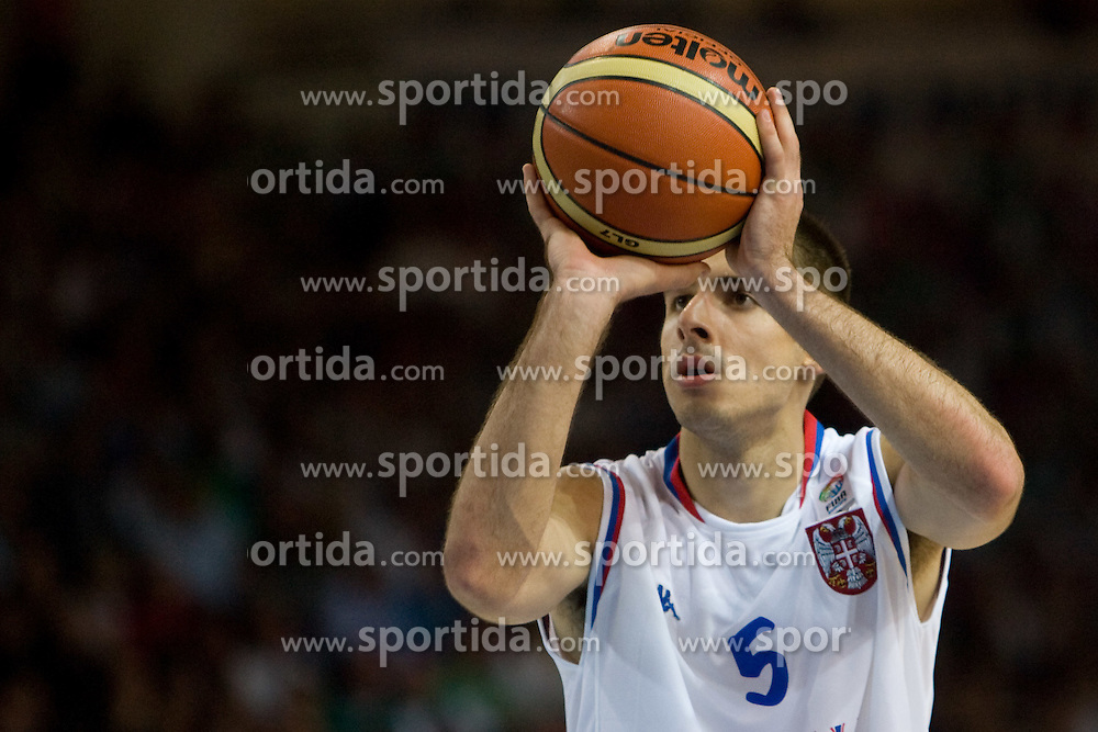 Milenko Tepic of Serbia  during the basketball match at 1st Round of Eurobasket 2009 in Group C between Spain and Serbia, on September 07, 2009 in Arena Torwar, Warsaw, Poland. (Photo by Vid Ponikvar / Sportida)