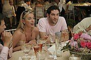 Tamzin Outhwaite, Tom Ellis. Veuve Clicquot Gold Cup 2006. Final day. 23 July 2006. ONE TIME USE ONLY - DO NOT ARCHIVE  © Copyright Photograph by Dafydd Jones 66 Stockwell Park Rd. London SW9 0DA Tel 020 7733 0108 www.dafjones.com