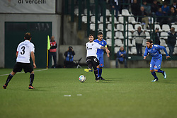November 3, 2018 - Vercelli, Italy - Italian midfielder Leonardo Gatto from Pro Vercelli team playing during Saturday evening's match against Novara Calcio valid for the 10th day of the Italian Lega Pro championship  (Credit Image: © Andrea Diodato/NurPhoto via ZUMA Press)