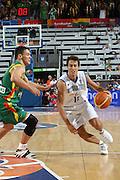 DESCRIZIONE : Madrid Spagna Spain Eurobasket Men 2007 Qualifying Round Italia Lituania Italy Lithuania<br /> GIOCATORE : Massimo Bulleri<br /> SQUADRA : Italia Italy<br /> EVENTO : Eurobasket Men 2007 Campionati Europei Uomini 2007<br /> GARA : Italia Italy Lituania Lithuania<br /> DATA : 08/09/2007<br /> CATEGORIA : Palleggio<br /> SPORT : Pallacanestro<br /> AUTORE : Ciamillo&amp;Castoria/E.Castoria