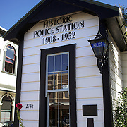 "The historical Police Station in the main street of Petone...Petone is a major suburb of the city of Lower Hutt in New Zealand. It is located at the southern end of the narrow triangular plain of the Hutt River, on the northern shore of Wellington Harbour. The name, from the Maori Pito-one, means ""end of the beach"" or ""short beach""...Petone was the first European settlement in the Wellington region and retains many historical buildings and landmarks. The first settlers arrived here in January 1840, on the ship Aurora. After the arrival of a second ship, the Cuba, plans were undertaken for the building of the settlement of Britannia on the site. As it sits in what was once the swamp, the earliest settlers found life hard, and new settlement was abandoned after only a few months. A new site was chosen around the shores of what is now the city of Wellington, New Zealand's capital.  24th January 2011. Photo Tim Clayton."