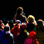 Micahel Franti and Spearhead perform to a packed crowd in Teton Village, Wyoming. Kids from Colter Elementary joining Michael Franti on the stage.